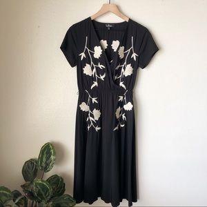 Lulu's | Embroidered Midi Dress